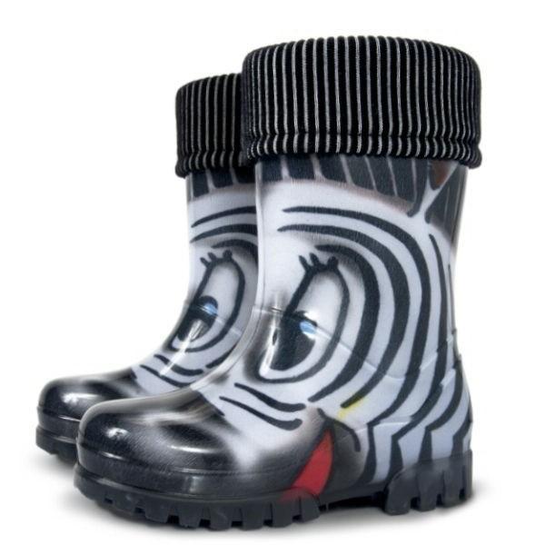 a2de927a40c dětská zateplená gumovka Demar zebra